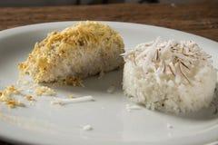Prendedero de abadejos con arroz del coco Imagenes de archivo