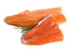 Prendedero de la trucha y de los salmones Foto de archivo libre de regalías