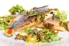 Prendedero de pescados frito Fotos de archivo