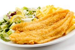 Prendedero de pescados frito Foto de archivo libre de regalías