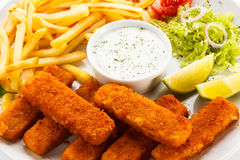 Prendedero de pescados frito Foto de archivo