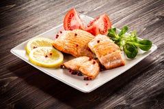 Prendedero de pescados frito Imagenes de archivo