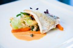 Prendedero frito del pescado blanco Imagen de archivo libre de regalías