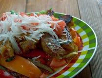 Prendedero mexicano del plato de la carne de vaca Fotos de archivo