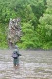 Prendedores do pescador dos salmões Fotos de Stock Royalty Free