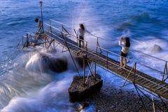 Prendendo foto a Sai Wan Swimming Shed Fotografia Stock