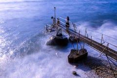 Prendendo foto a Sai Wan Swimming Shed Immagini Stock