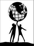 Prendendo o mundo ilustração do vetor
