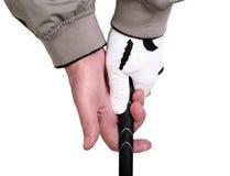 Prendendo um clube de golfe Foto de Stock Royalty Free