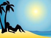 Prendere il sole illustrazione vettoriale