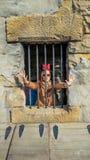 Prendido na cadeia Fotografia de Stock