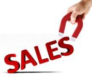 Prendre de nouvelles ventes Image libre de droits