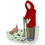 Prendre la dunette de chien Photo libre de droits
