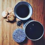 Prendre le petit déjeuner photo stock
