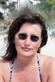 Prendre un bain de soleil Images stock