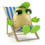 prendre un bain de soleil de la pomme de terre 3d Photos stock