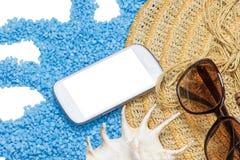 Prendre un bain de soleil le concept Endroit gratuit pour votre texte Photographie stock