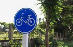 Prenez garde de la bicyclette Photographie stock libre de droits