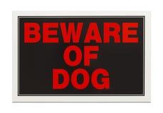 Prenez garde du signe de chien Images stock