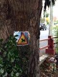 Prenez garde du signe de licornes Images libres de droits