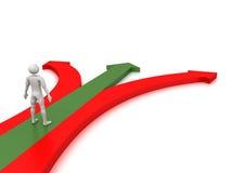 Prenez le chemin droit Image libre de droits