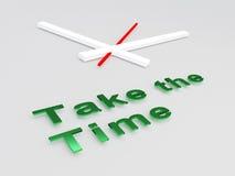 Prenez le concept de temps illustration stock