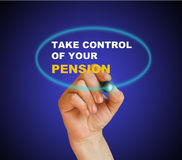 Prenez le contrôle de votre pension Images stock