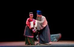 Prenez le pavillon de brise d'opéra de šJiangxi de ¼ de childï Images libres de droits