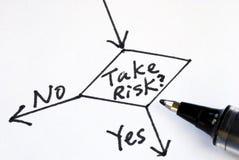 Prenez le risque ou pas Image stock