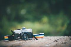 Prenez notre appareil-photo de voyage avec nous photographie stock