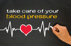 Prenez soin de votre tension artérielle Images libres de droits