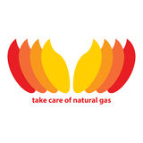 Prenez soin du gaz naturel Photo stock