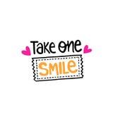 Prenez un billet de sourire photographie stock