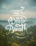 Prenez un vecteur de respiration profonde Images stock