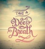 Prenez un vecteur de respiration profonde Photographie stock libre de droits