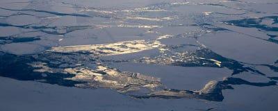Prenez une photo de la glace sur le ‰ de ¼ du ¼ ˆ19ï de straitï de Béring photo libre de droits