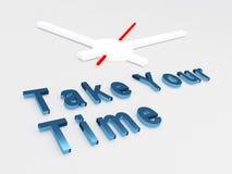 Prenez votre concept de temps illustration libre de droits