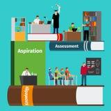 Prenota il infographics di istruzione illustrazione vettoriale