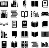 Prenota le icone Immagini Stock Libere da Diritti