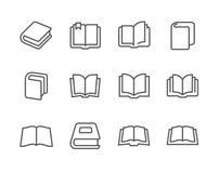 Prenota le icone Illustrazione di Stock
