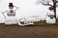Prenotazione di Edgewater - il lago Erie - Cleveland, Ohio Immagini Stock Libere da Diritti
