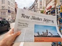 Prensa alemana imágenes de archivo libres de regalías