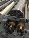 Prensa de cilindro para la impresión de la prensa de copiar Imagen de archivo libre de regalías