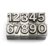 Prensa de copiar - alfabeto inglés y número de la letra de molde Imágenes de archivo libres de regalías