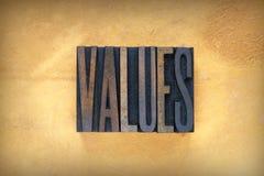 Prensa de copiar de los valores Imagenes de archivo