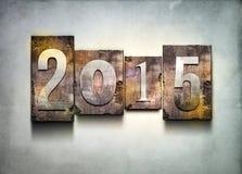 Prensa de copiar 2015 del año Imagen de archivo libre de regalías
