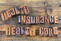 Prensa de copiar de la atención sanitaria de la salud del seguro médico fotografía de archivo libre de regalías
