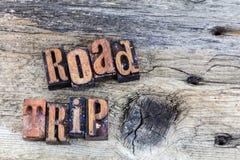 Prensa de copiar de las vacaciones del viaje del viaje por carretera Imagenes de archivo