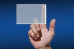 Prensa de la mano a abotonar Imagen de archivo libre de regalías