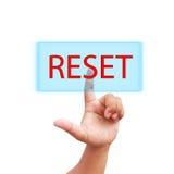 Prensa de la mano en icono del reset Imagen de archivo libre de regalías